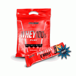 Whey 100% Pure Refil (907g) + Crisp Bar (45g)