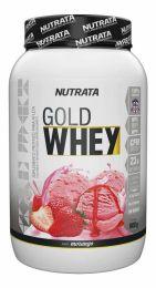 Gold Whey (900g) Morango - nutrata