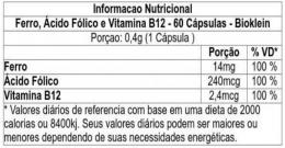 tabelaferroacidofolicovitaminab12bioklein