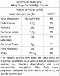 Whey Grego Sachê (40g) site brasil